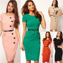 593da54a_free-shipping-european-american-style-lady-career-o-neck-button-knee-length-pencil-dress-plus-size